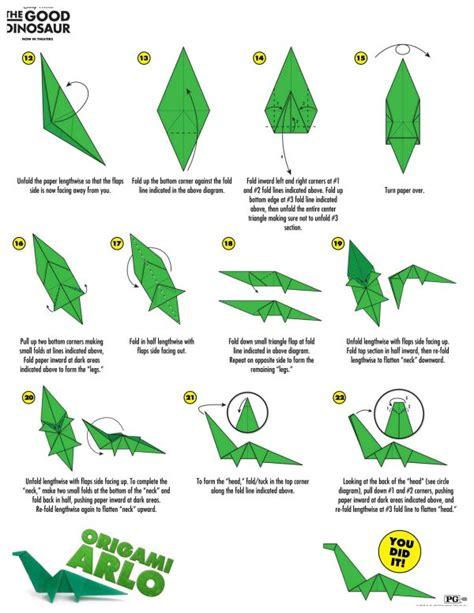 simple dinosaur origami disney the dinosaur arlo origami craft
