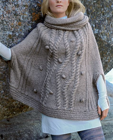 free knit poncho patterns sleeved poncho knitting patterns in the loop knitting