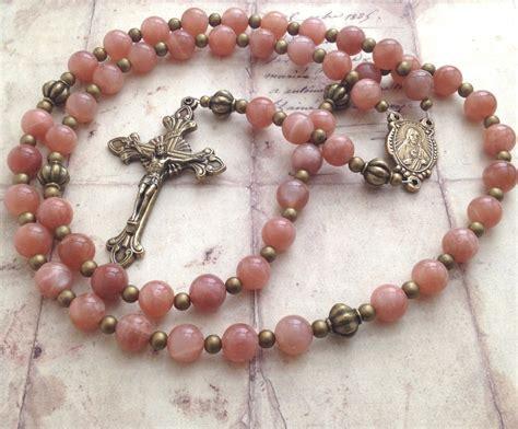 sacred rosary sacred of jesus rosary sunstone vintage style