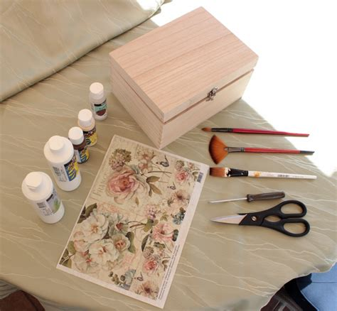 decoupage project ideas diy project shabby chic decoupage storage box