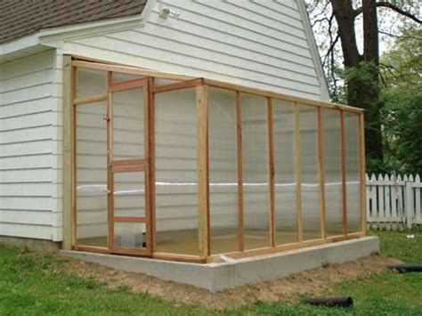 wooden lean to greenhouse plans