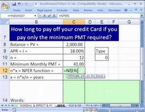 how to make payment to credit card excel finance trick 11 how pay credit card