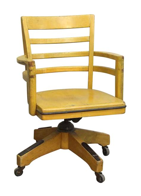 wood swivel chairs wood swivel chair with wheels olde things