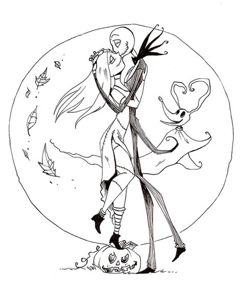 tim burton s the nightmare before coloring book for everybody free printable nightmare before coloring pages