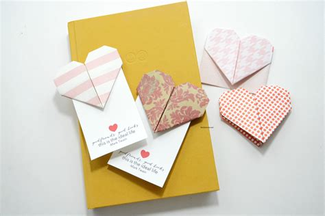 origami ideas for valentines day origami bookmarks the idea room
