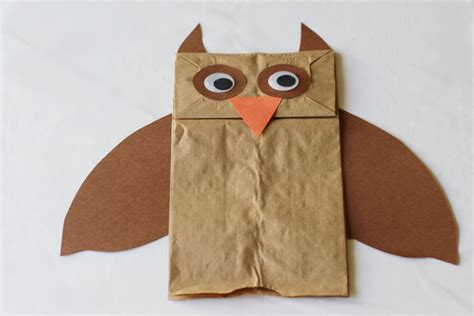 owl paper bag craft owl paper bag puppets quotes