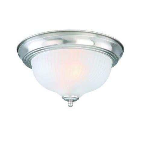 home depot ceiling lights hton bay 2 light brushed nickel flushmount