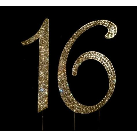 Rhinestones For Cakes Decorations by Buy 16th Birthday Cake Toppers Number 16 Bling Crystal