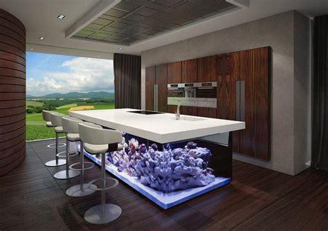 Island Kitchen Design the ocean kitchen a giant aquarium kitchen island by