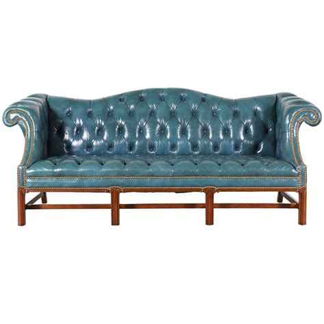 blue leather chesterfield sofa vintage leather teal blue chesterfield sofa at 1stdibs