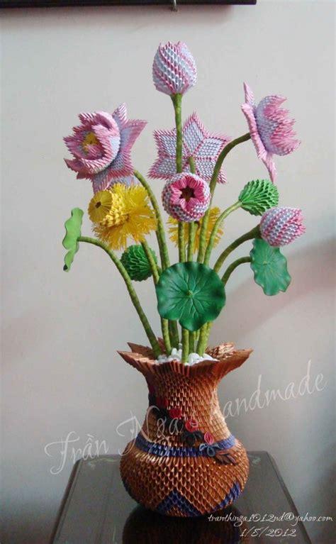origami 3d flower vase 3d origami lotus vase origami 3d origami