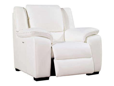 fauteuil relaxation 233 lectrique en cuir saturday coloris blanc vente de tous les fauteuils