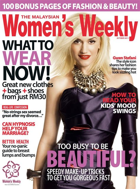 Gwen On The Cover Of The October Issue Of The Malaysian