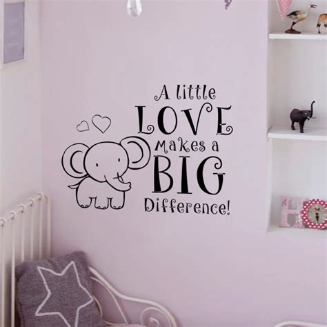Quotes For Bedroom Wall elephant baby room decal nursery room wall decal a little