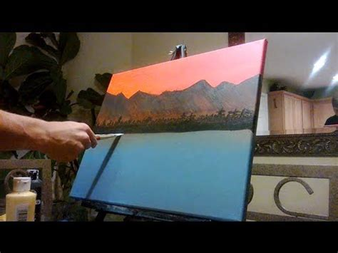acrylic paint do you need water how to paint distant mountains with acrylic paint
