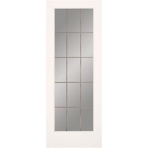 interior glass doors home depot masonite 30 in x 80 in sandblast lite solid primed mdf interior door slab with