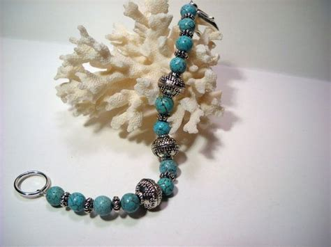 beaded bracelets etsy turquoise beaded bracelet