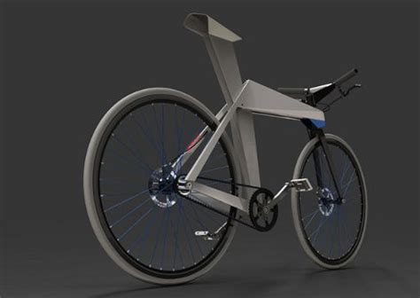 origami bicycle lightweight folded metal bike inspired by origami