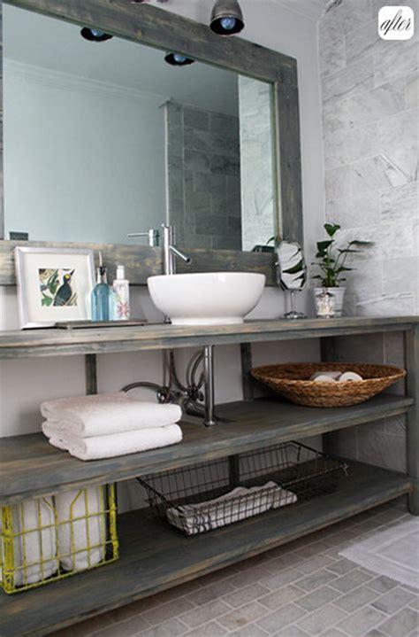 bathroom vanity open shelf bathroom inspiration open shelf vanity postcards from