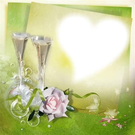 montage photo cadre coeur mariage pixiz