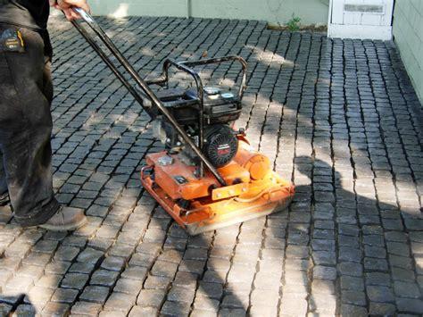 cobblestone patio pavers how to install a cobblestone patio on concrete or bare