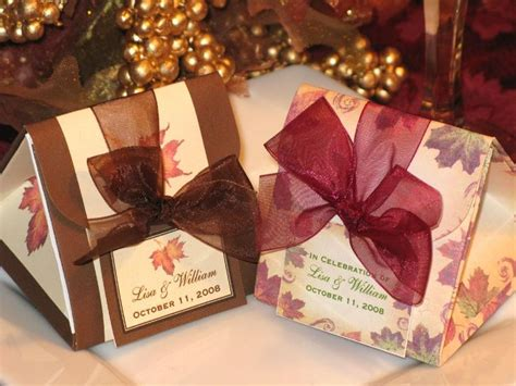 origami wedding favors autumn fall maple leaves wedding origami favor boxes