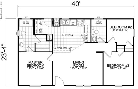 1 Bedroom Cottage Floor Plans home 24 x 40 3 bedroom 2 bath 933 square feet little