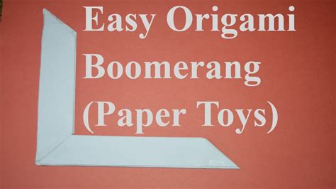origami boomerang easy how to make a paper boomerang easy origami boomerang