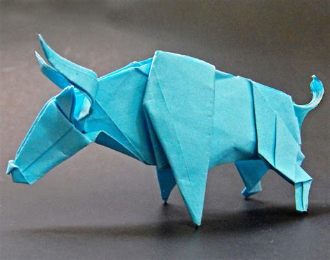 origami bull origami bull by alejandro delafuente on deviantart