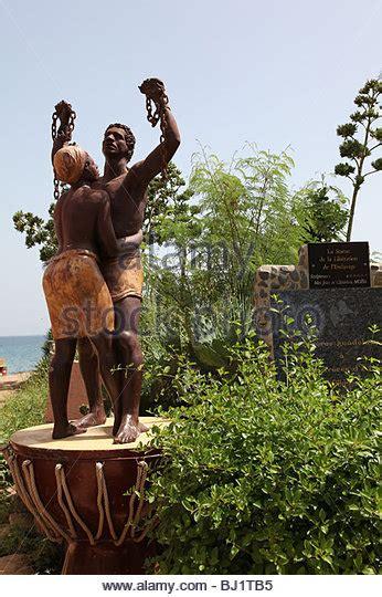 senegal goree island statue stock photos senegal goree