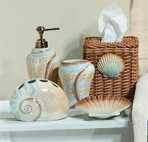 seashell bathroom accessories seashell bathroom decorating ideas