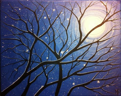 acrylic painting of trees best 25 winter painting ideas on wine and
