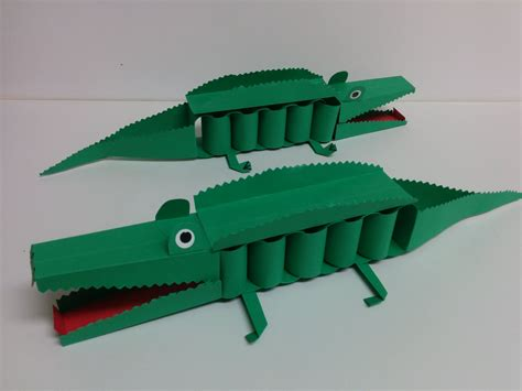 how to make craft and craft how to make 3d paper crocodile
