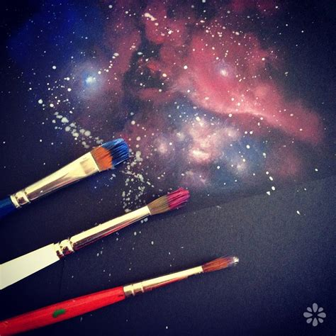 acrylic paint tutorial galaxy 25 best ideas about space painting on wall
