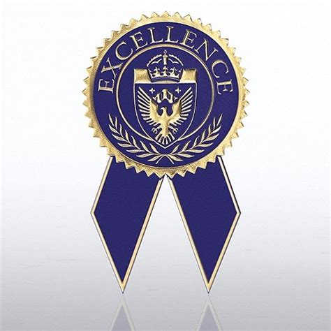 seal ribbon excellence blue gold certificate seal with ribbon at