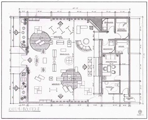 floor plan of retail store retail layout on behance