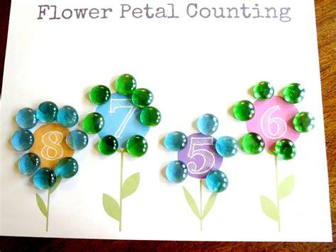preschool for plant theme preschool math flower petal counting free