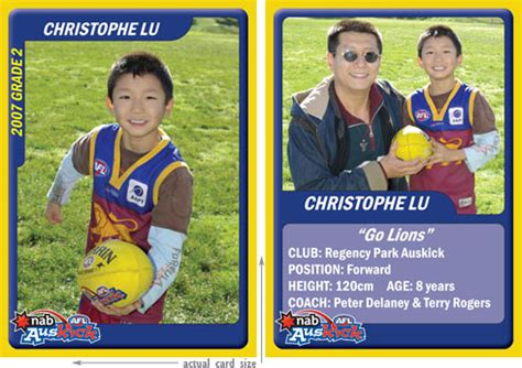 make your own footy card myclubtradingcards personalised trading cards gt home