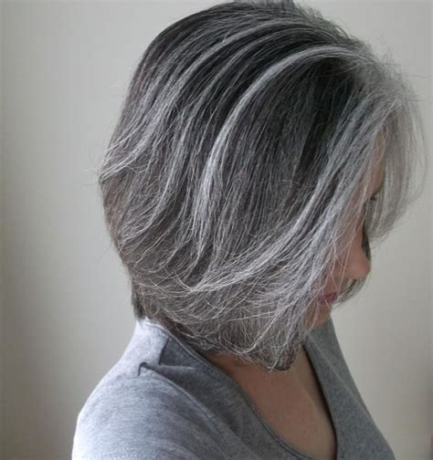 pictures of grey hairstyles with pink highlights gray with soft highlights what about the reverse of that