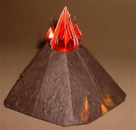 Origami Volcano 99 3d Easy Make Origami For