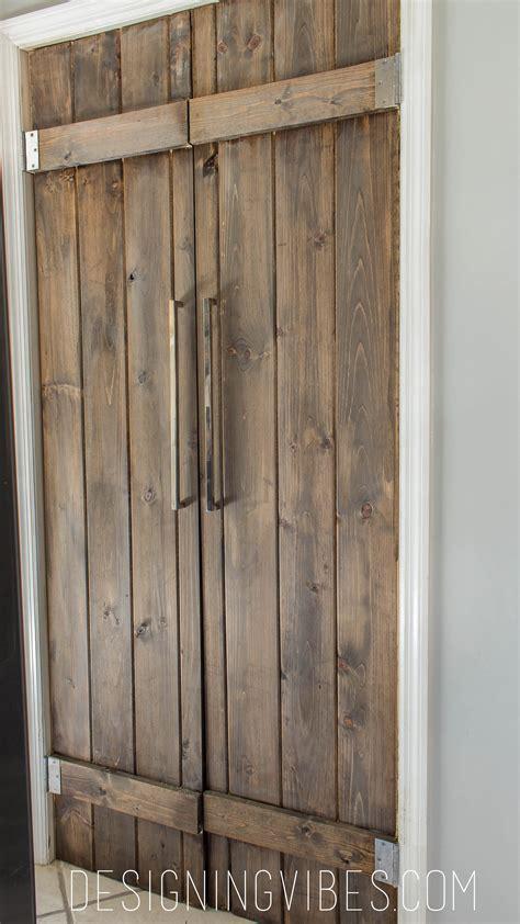 barn door closet pantry barn door diy 90 bifold pantry door diy