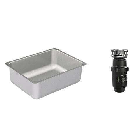 waste disposal kitchen sink moen 2000 series undermount stainless steel 23 in single