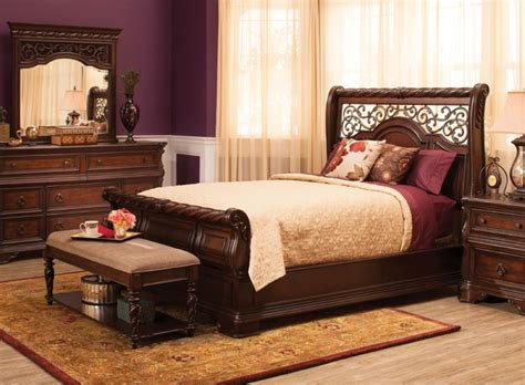 raymour and flanigan bedroom furniture vienna 4 pc bedroom set traditional other metro