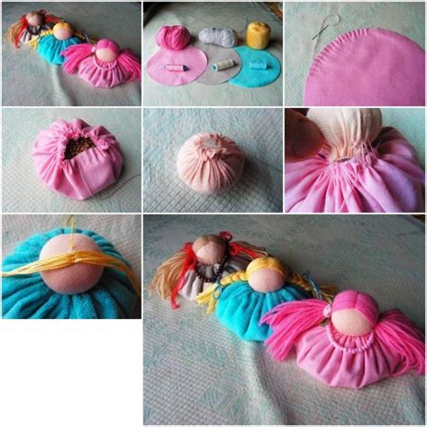 to make ideas how to sew custom fabric doll decoration step by step