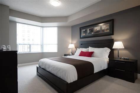 black white master bedroom interior ideas with black king