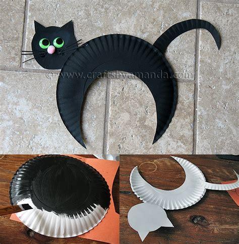 cat paper plate craft wonderful diy paper plate black cat