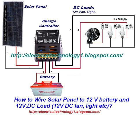 how to wire lights to a battery how to wire solar panel to 12v battery and 12v dc load