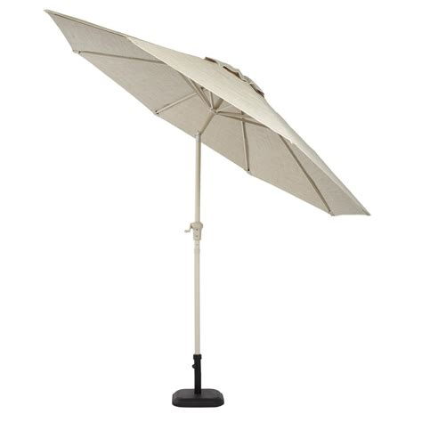 crank and tilt patio umbrella hton bay statesville 9 ft aluminum crank and tilt