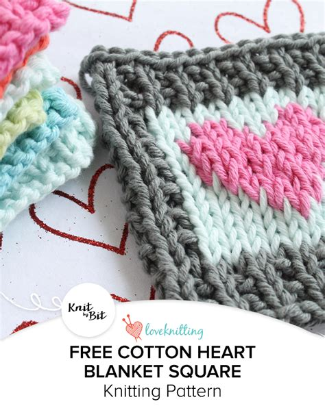 can you knit a square knit by bit cotton blanket square knitting pattern