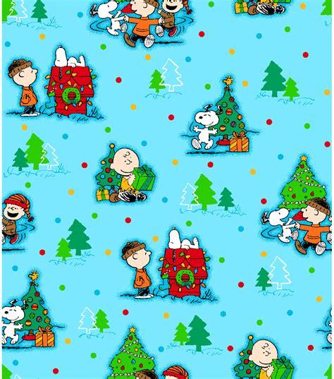 Joann Fabrics Home Decor holiday inspirations fabric peanuts christmas scenic at